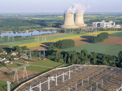 Nuclear Power Station of Saint Laurent-Des-Eaux, Pays De Loire, Loire Valley, France