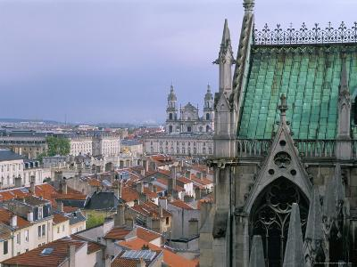 View from Terrace of St. Epvre Basilica, of Place Stanislas and Old Town, Nancy, Lorraine