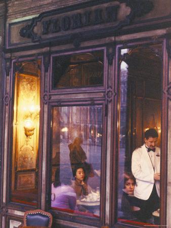 Cafe Florian, St. Mark's Square, Venice, Veneto, Italy