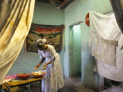 Preparing for Coffee Ceremony, Abi-Adi, Tigre Region, Ethiopia, Africa