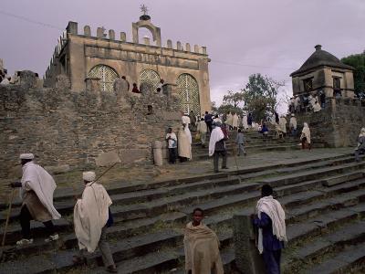 Christian Pilgrims, Easter Festival, Sainte Marie De Sion, Axoum, Tigre Region, Ethiopia
