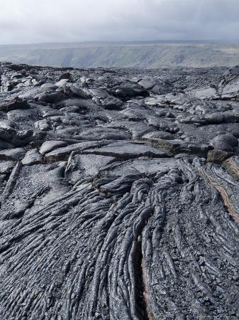 Cooled Lava from Recent Eruption, Kilauea Volcano, Hawaii Volcanoes National Park, Island of Hawaii
