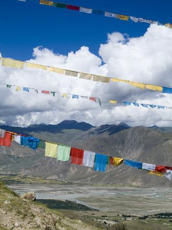 Prayer Flags, Ganden Monastery, Near Lhasa, Tibet, China