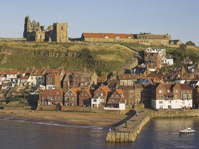 Abbey Ruins, Church, Sandy Beach and Harbour, Whitby, North Yorkshire, Yorkshire