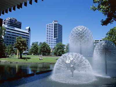 Town Hall Fountain, Christchurch, Canterbury, South Island, New Zealand