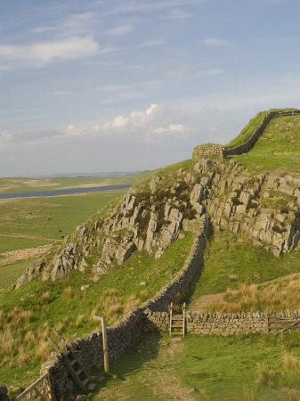 Pennine Way Crossing Near Turret 37A, Hadrians Wall, Unesco World Heritage Site, England