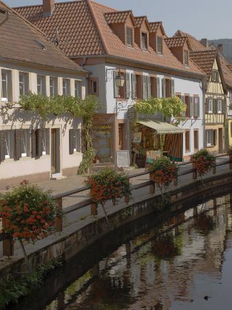 Traditional Houses Alongside Millrace, Pfalzer Wald Wine Area, Germany