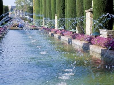 Fountains in Gardens, Cordoba, Andalucia (Andalusia), Spain