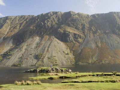 The Screes, Lake Wastwater, Wasdale, Lake District National Park, Cumbria, England