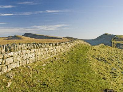 Looking East to Kings Hill and Sewingshields Crag, Hadrians Wall, England