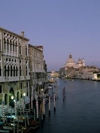 Grand Canal and S. Maria Salute, Venice, Veneto, Italy