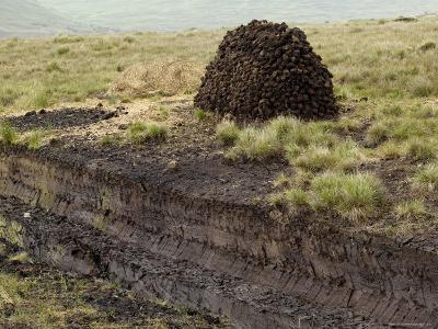 Peat Cutting, Connemara, County Galway, Connacht, Republic of Ireland