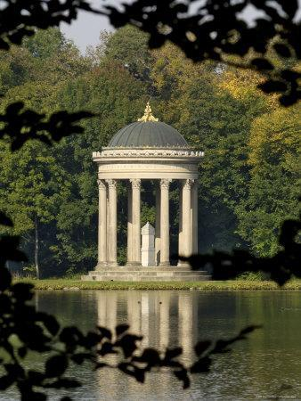 Pavilion or Folly in Grounds of Schloss Nymphenburg, Munich (Munchen), Bavaria (Bayern), Germany