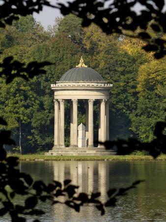 Pavilion or Folly in Grounds of Schloss Nymphenburg, Munich (Munchen), Bavaria (Bayern), Germany