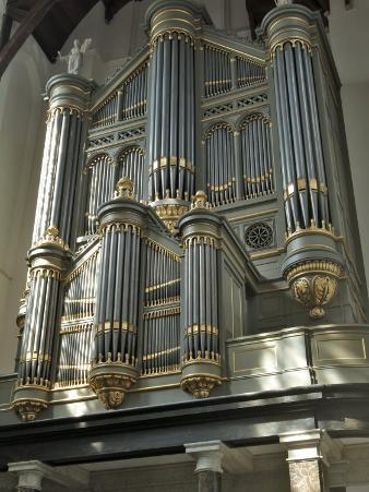 Organ, Oude Kirk (Old Church), Delft, Holland (The Netherlands)