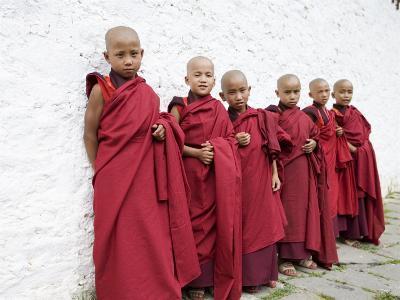 Young Buddhist Monks, Karchu Dratsang Monastery, Bumthang, Bhutan