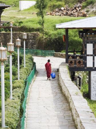 Buddhist Monk, Trongsa Dzong, Trongsa, Bhutan