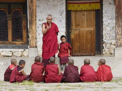 Buddhist Monks, Karchu Dratsang Monastery, Jankar, Bumthang, Bhutan