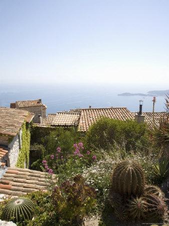 Eze, Alpes Maritimes, Provence, Cote d'Azur, French Riviera, France, Mediterranean
