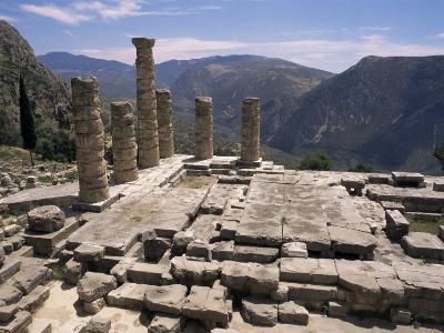 Temple of Apollo, Delphi, Unesco World Heritage Site, Greece