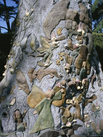 Fairies Tree Carving By Ola Cohn 1931 4 Fitzroy Garden