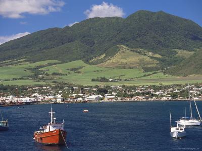 View to Basseterre, St. Kitts, Leeward Islands, West Indies, Caribbean, Central America