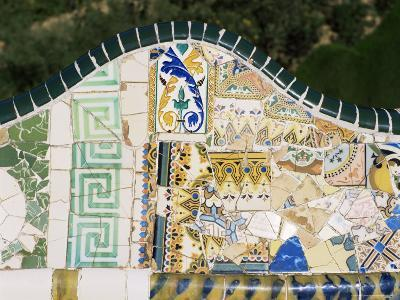 Gaudi's Mosaics, Guell Park, Barcelona, Catalonia, Spain