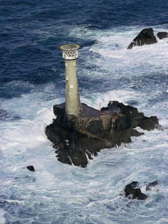 Longships Lighthouse, Lands End, Cornwall, England, United Kingdom