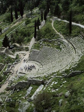The Theatre, Delphi, Unesco World Heritage Site, Greece
