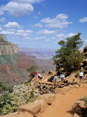 Hikers Return from Canyon Base, Grand Canyon, Unesco World Heritage Site, Arizona, USA