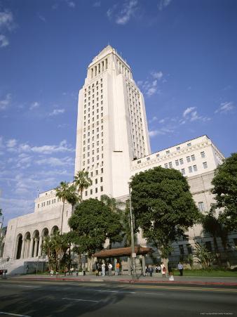 Exterior of City Hall, Los Angeles, California, United States of America (Usa), North America