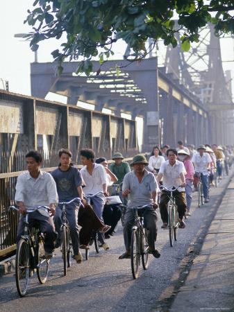 Cyclists, Vietnam, Indochina, Southeast Asia