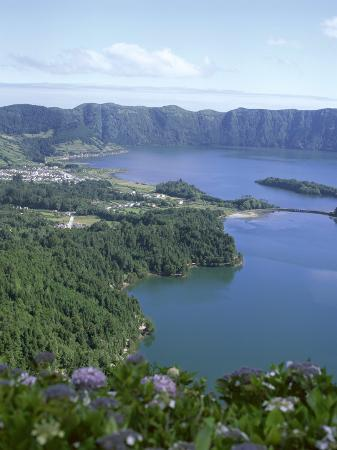 View Over Crater Lake, Sete Citades, San Miguel, Azores Islands, Portugal, Atlantic