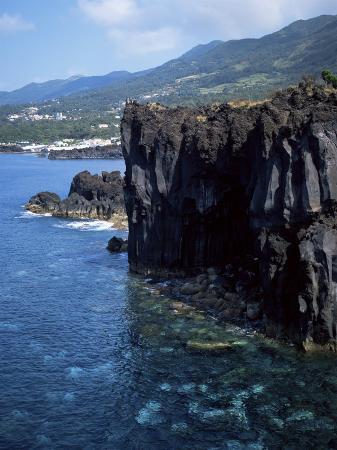 Volcanic Coastline, Island of Sao Jorge, Azores, Portugal, Atlantic