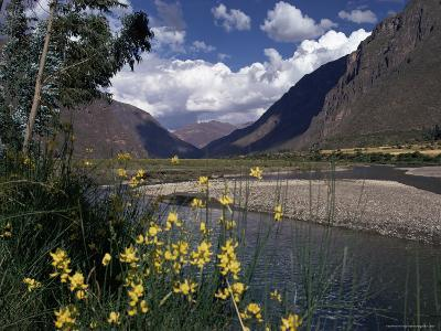 The Urubamba Valley, the River Continues Down the Gorge Past Machu Picchu, Peru, South America