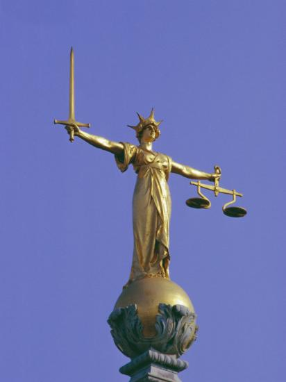 The Scales Of Justice Above The Old Bailey Law Courts