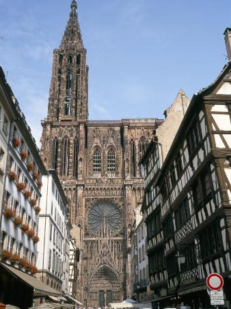 Gothic Christian Cathedral Dating from the 12th to 15th Centuries, Strasbourg, Alsace, France