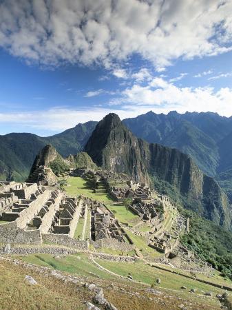 Inca Ruins in Morning Light, Machu Picchu, Unesco World Heritage Site, Urubamba Province, Peru