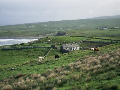 View Towards Doolin Over Countryside, County Clare, Munster, Eire (Republic of Ireland)