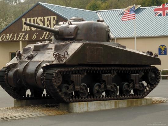 American Sherman Tank Omaha Beach Museum Normandy France