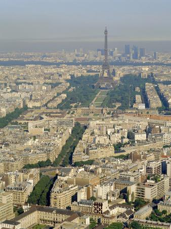 View of the City from Montparnasse Tower, Paris, France