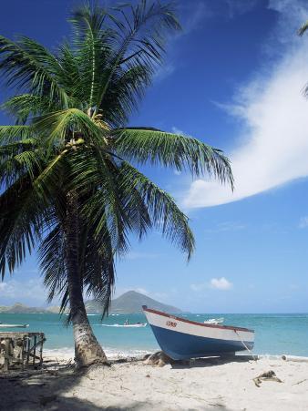 View Towards St. Kitts, Nevis, Leeward Islands, West Indies, Caribbean, Central America
