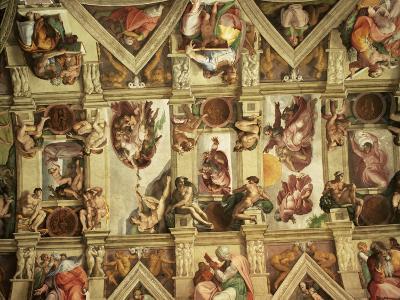 Ceiling of the Sistine Chapel, the Vatican, Rome, Lazio, Italy