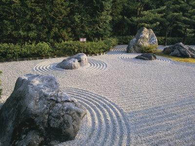 Raked Stone Garden, Taizo-In Temple, Kyoto, Japan