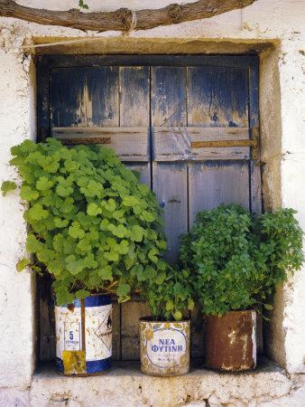 Windowsill, Paleohora, Crete, Greece