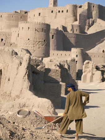 Restoration Work, Arg-E Bam, Bam, Unesco World Heritage Site, Iran, Middle East