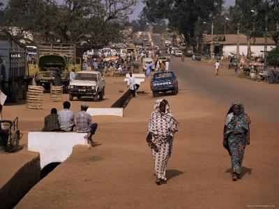 Street Scene in Centre of Town, Garowa, Cameroon, Africa
