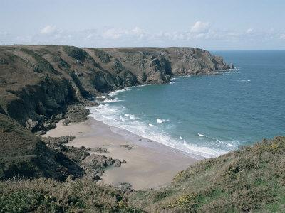 Plemont Bay from Clifftop, Greve Aulancon, Jersey, Channel Islands, United Kingdom