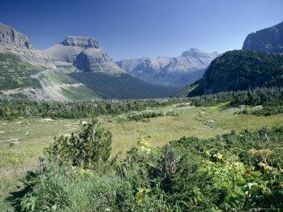 View East from Logan Pass, Glacier National Park, Montana, USA