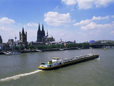 River Rhine and Cologne (Koln), North Rhine-Westphalia, Germany